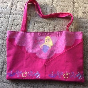 Other - Large sized cloth Barbie tote bag Girls NWOT